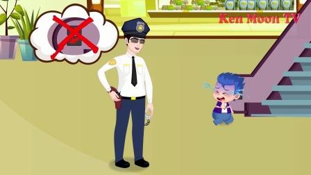 阿坤看见了警察,为什么要害怕呢?小马国女孩游戏