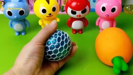 亲子早教儿童:把四个迷你战士的发泄球拿走了,他们会怎么样