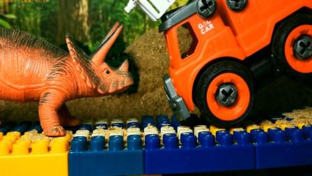 卡车遭遇恐龙 亲子益智