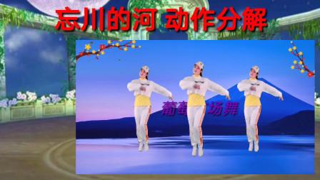 广场舞《忘川的河》动作分解教学带口令 好学好看 冬季健身舞