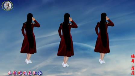 流行情歌《蜒儿点水蝶恋花》DJ版,舞步时尚,简单32步附教学