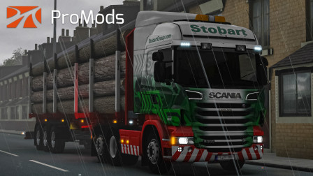 欧洲卡车模拟2 #383:久违的雨天 行驶在车流稍多的M6公路上   Euro Truck Simulator 2