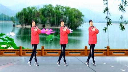 梦中的流星广场舞《萍聚》动感火爆 老歌新跳64步 演示:凤梅