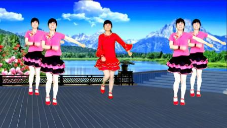 情歌广场舞《幸福的爱你一辈子》旋律优美动听,简单好看又好学