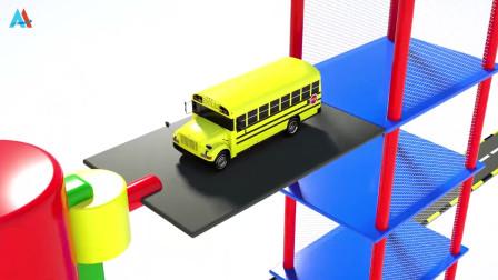 汽车世界之工程车益趣园 第29话 车辆进入立体停车场