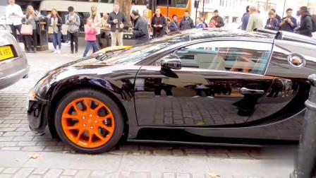 世界纪录级别的汽车布加迪威龙,伦敦的超级跑车