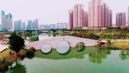 航拍闽南水乡特色的漳州免费景点,画面下犹如江南风情的美