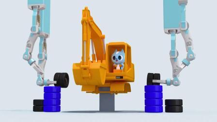 迷你特工队游戏:弗特的挖掘机出现了,它要做什么?