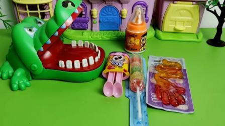 儿童亲子早教:大鳄鱼安装错了牙齿啃不动食物,其实是小哪吒的