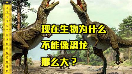为什么现代生物,不能长到恐龙那么大?因为现在动物吃的少?