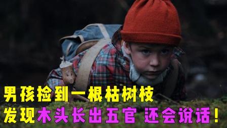 奇幻片:男孩捡到一根枯树枝,发现木头竟长出五官,还会说话!