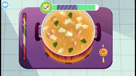 海岛美食小游戏,蛤蜊汤开始制作咯!