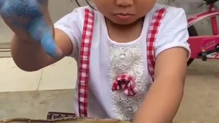 童年的记忆:妈妈太空沙掉色吗