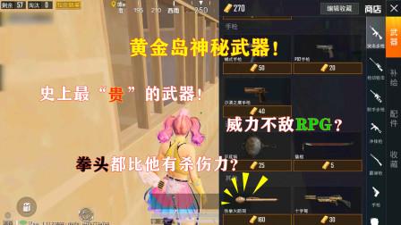 """明月:黄金岛最""""贵""""的新武器!威力不敌RPG?拳头都比他有杀伤力?"""