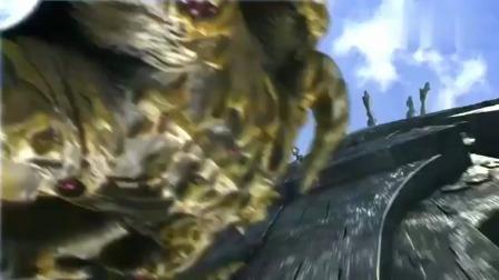 奥特曼:怪兽倒了下去,它想要逃走,奥特曼追了上去