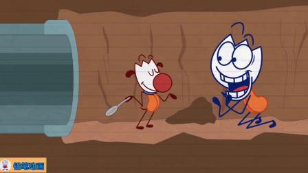 搞笑铅笔动画:千辛万苦逃出监狱,却又踏入雷区
