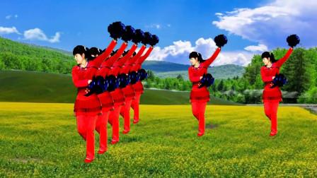 欢快喜庆花球广场舞《欢聚一堂》歌曲欢快喜庆,舞蹈简单易学
