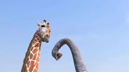 长颈鹿与大象的决战,画面超乎想象!