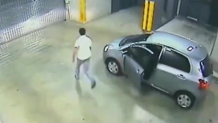 监控:被自己的车结束生命,如果不是监控,打死也不相信还有这种车祸。