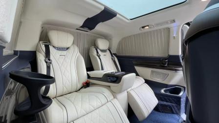 奔驰V级商务车标轴版发布!配4个头等舱座椅,空间仍比埃尔法大?