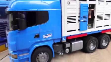 益智玩具:斯堪尼亚动物运送专列到了,看看里面是哪些动物