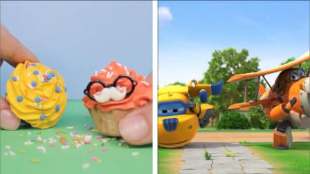 超级飞侠玩具,超级飞侠和美味甜品的巧妙结合,最喜欢冰淇淋甜筒
