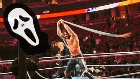 WWE擂台绳圈意外崩断时刻,你见过塞斯挥舞边绳的样子吗?