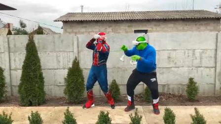 蜘蛛侠:蜘蛛侠和绿巨人一起探险吗,你们来看看