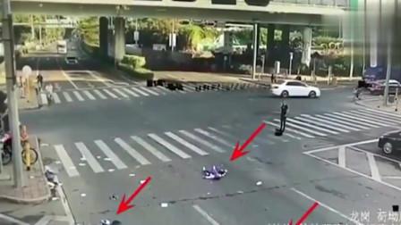 监控探头拍下的惨烈车祸,这算谁的责任
