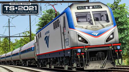 TS2021 华盛顿-巴尔的摩 #3:在破纪录的炎热天气中驾驶ACS64执行东北区域号#176   Train Simulator 2021