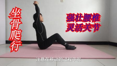 """久坐伤腰,每天坚持""""坐骨爬行""""5米,灵活腰胯关节,强健腰椎"""