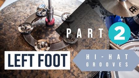 Juan Carlito Mendoza - Left Foot Hi Hat Grooves Part 2 Drum Lesson