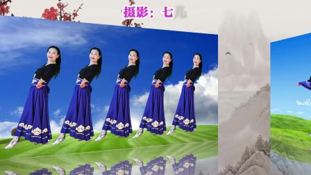 玖月广场舞《鸿雁》蒙古舞 简单优美好学编舞:胡盛