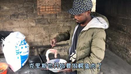 老外:非洲15元一斤的鳄鱼肉,想知道味道如何,就看看小猴子是怎么吃的