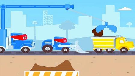 【永哥玩游戏】超级挖掘机卡尔 超级挖掘机推土机工程车总动员
