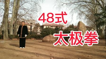 关注加粉丝来夏桥公园我教你48式太极拳