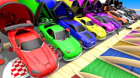 汽车玩具故事:寓教于乐!汽车带你一起认识颜色跟形状!