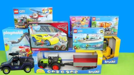 汽车玩具故事:哇塞!小熊姐姐带来了哪些新型的车车呢?