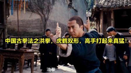 中国古拳法之洪拳,虎鹤双形,高手打起来真猛!