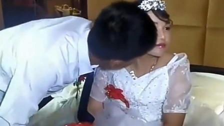 这都是父母包办的婚姻,新郎亲一下都不让,以后的日子更是问题了!