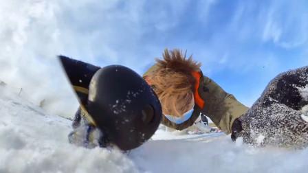 不摔跤的滑雪,不是真正的滑雪!