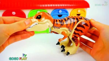 快乐亲子,寻找恐龙头部按照颜色拼装,太有意思了