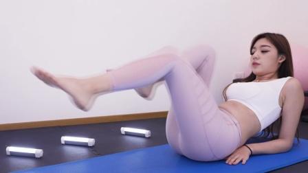 爆汗瑜伽瘦身,健身练小腹腰边肥肉锻炼