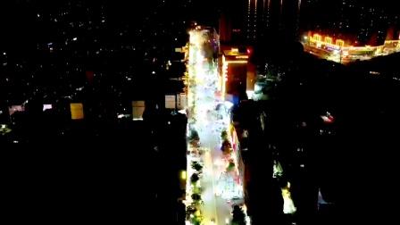 航拍,广西陆川县地标建筑地王广场