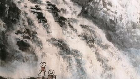 游龙走笔山水间张立启山水画作品欣赏
