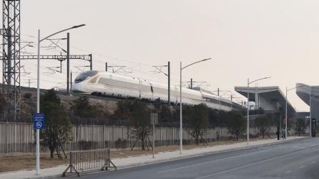 宁安高铁上行复兴号驶出马鞍山东站