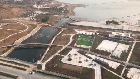 马鞍山市秀山新区新貌(1):秀水河、五亩山河、秀山湖水系已连通。