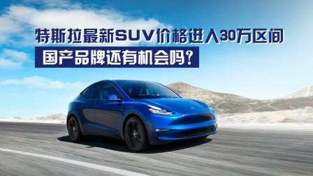 特斯拉最新SUV价格进入30万区间,国产品牌还有机会吗?