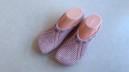 简易地板袜的编织方法,浅口设计,简洁方便,针法简单,一学就会