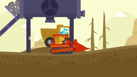 恐龙挖掘机:石头挡不住我的去路